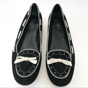 Coach Bow Suede Loafers
